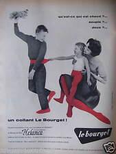 PUBLICITÉ 1958 COLLANT LE BOURGET MOUSSE DE NYLON HELANCA - ADVERTISING