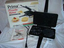 VINTAGE VILLAWARE PRIMA PIZZELLE BAKER WAFFLE MAKER ITALIAN COOKIE IRON ELECTRIC