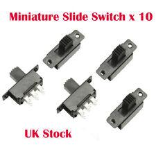 10 X Mini Miniatura On/On 6 Pin Interruptor Deslizante Interruptor DPDT