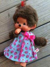 KLEIDUNG Kleid Tunika für Monchichi Gr. 20 cm Erdbeerchen kipu Puppenkleidung