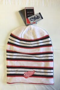 Detroit Red Wings Knit Beanie Toque Winter Hat Skull Cap NHL New Long Reversible