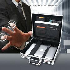 Password Dual Lock Aluminum Hard Briefcase File Business Trip Home Storage Cases