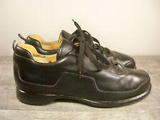 Hermes Paris Black Leather Mens Lace Up Driving Oxfords Shoes Size 10 US / 44 EU