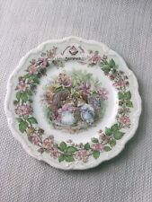 """Royal Doulton Brambly Hedge Summer Decorative Collectors Plate Unboxed 8"""" W939"""