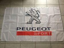 Bannière Drapeau Neuf 150x90 Cm  PEUGEOT SPORT 208 308 Rcz Gti
