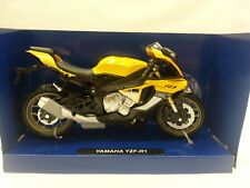 NEW-RAY MODELLINO MOTO YAMAHA YZF-R1 ANNO 2016,SCALA 1:12,DIE CAST COL. GIALLO