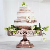 12-Inch WEDDING CAKE STAND Round Metal Event Party Display Pedestal Plate Tower