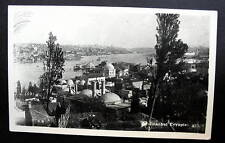 Turkey Istanbul 1930s-40s close up view of buildings along river - Rppc