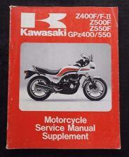 1983-88 KAWASAKI Z400F F-II Z500F Z550F GPz400 GPz550 MOTORCYCLE SERVICE MANUAL
