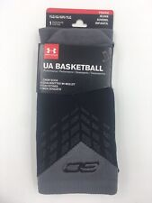 Under Armour Basketball Socks, Size L, Youth Shoe 1-4, Black / Gray, Curry, L11