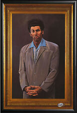 Seinfeld The Kramer Painting TV Poster in Premium Black Wood Frame