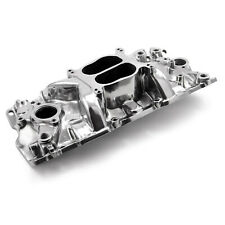 Polished Small Block Chevy 283 350 383 Aluminum Intake Manifold