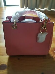 Michael Kors Cynthia Leather satchel pink NEW