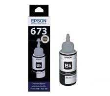 NEW ORIGINAL EPSON T673 T6731 (BLACK) PRINTER INK 70ML, For L800 / L805 / L1800