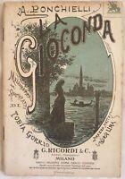 AMILCARE PONCHIELLI LA GIOCONDA TOBIA GORRIO MUSICA TEATRO THEATRE 1904
