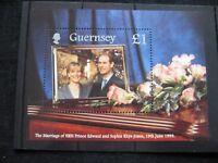 GB: Guernsey 1999 Royal Wedding mini Sheet UMM (MNH)