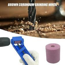 Corundum Wheel Portable Drill Bit Sharpener Wear Resisting Grinding w/ Spanner
