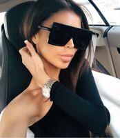 """XXL OVERSIZED """"BETTY""""Lauren Women Sunglasses Aviator Flat Top Square Shadz Gafas"""