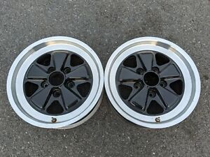 TWO original 951 PORSCHE 16 x 7 Fuchs wheels 951.362.115.00 OEM USED