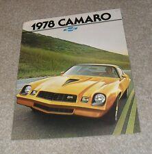 CHEVROLET Camaro BROCHURE Z28-rally sport-tipo LT - 1977-1978