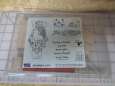 New Stampin Up 7 pc wm stamp set Brighter Days 2000 Bees-Flowers-Angel -Hive