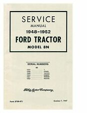 Service Manual for 8N Ford Tractor Coil Binding
