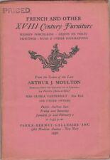 Auction Catalog French & Other XVIII Century Furniture Gloria Vanderbilt 1958