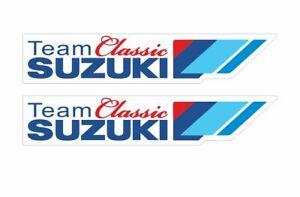 Stickers plastifiés Team SUZUKI Classic - 12cm x 2,5cm
