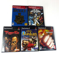 Lot of 5 PS2 Playstation T Rated Games Star Wars Battlefront 2 4 More NOT TESTED