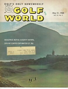 1968 5/31 Golf World magazine Royal Country Down, Curtis Cup, GOOD STAIN Writing