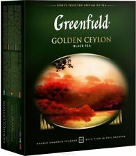 Greenfield Golden Ceylon  black tea in bags, 100 pcs, 200g
