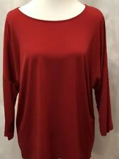 Chico's 2 Red 3/4 Sleeve Pullover Shirt Top Women's Size Large