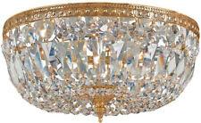 "Crystorama Lighting Group 712-CL-I Ceiling Mount 3 Light 12""W - Brass"