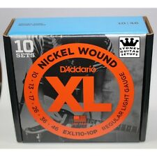 D'Addario EXL110 Nickel Electric Guitar Strings EXL110-10P ProPack 10 sets