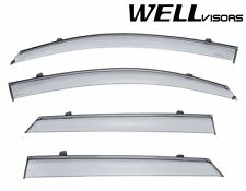 WellVisors Side Window Visors Deflectors W/ Black Trim For 16-UP Hyundai Tucson