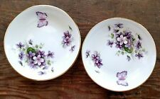 Aynsley Wild Violets Two Coasters Fine English Bone China Used Some Scratches