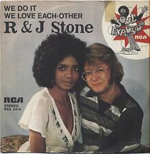 "R & J STONE - We do it - VINYL 7"" 45 LP ITALY 1976 VG+ COVER VG- CONDITION"