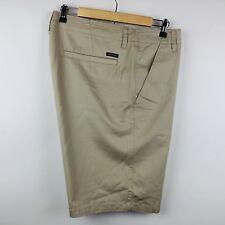 Oakley Mens Shorts Size 42 Khaki Flat Front Cotton