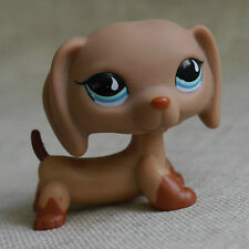 Blue eyes Brown Dachshund dog LITTLEST PET SHOP LPS mini Action Figures #518