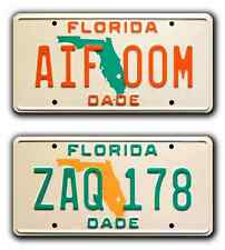 Miami Vice / Sonny's Ferraris / ZAQ 178 + AIF 00M *STAMPED* Prop License Plates