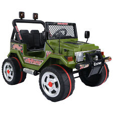 12V Kids Raptor Jeep Wrangler Truck RC Ride On Car w/ Double Motor & Battery MP3