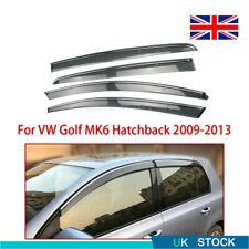 Wind Rain Sun Deflectors Visor Guard Set For VW Golf MK6 Hatchback 2009-2013