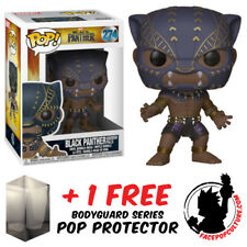 Funko Pop Marvel Black Panther Black Panther Warrior Falls + Free Pop Protector