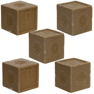 Savon de Marseille - 5 x 300g - French Soap Cubes made with Organic Olive Oil