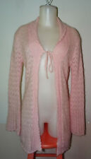 VICTORIA'S SECRET Pink Pointelle knitted Wool Blend Cardigan Size XS