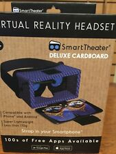 BRAND NEW SMART THEATER VIRTUAL REALITY HEADSET DELUXE CARDBOARD IPHONE ANDROID