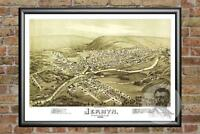 Old Map of Jermyn, PA from 1889 - Vintage Pennsylvania Art, Historic Decor