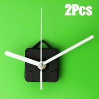 2 x DIY Quartz Wall Clock Movement Mechanism White Hand Repair Parts Tool Kit