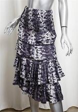 ISABEL MARANT H&M Purple Snake Print Tiered Ruffle Mid-Calf Long Skirt 34/4 NEW