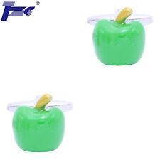 Men Green Apple Shirt Cufflinks With Velvet Bag TZG Cuff Links